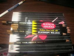1 Dozen Rare Dixon Circa 1940's Anadel Black Colored Pencil