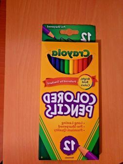 1 Pack Crayola Pre-Sharpened 12 ct. Colored Pencils - Premiu