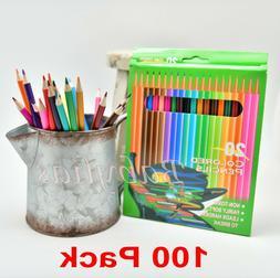 100 Colored Pencils Kids Premium Art Supplies Vibrant Colors
