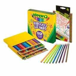 Crayola 100Count Colored Pencils with 16Count Color Fx Metal
