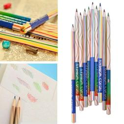 10pcs Rainbow Color Drawing Painting Pencils 4 in 1 Colored