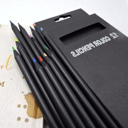 12 Colors Drawing Charcoal Pencils Soft Painting Sketch Art