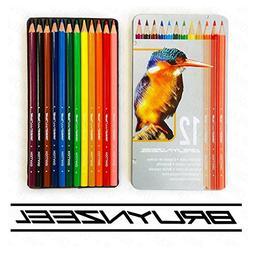 Bruynzeel - 12 Colouring Pencils in Kingfisher Design Metal