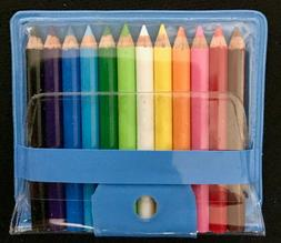"""Be Goody 12 MINIATURE COLORED 1.75"""" PENCILS Japan Case SCH"""