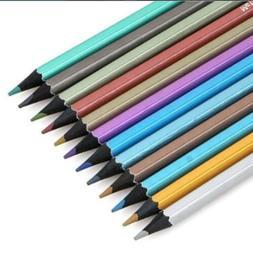 12 Pcs Metallic Color Drawing Pencil 12 Assorted Colors Sket