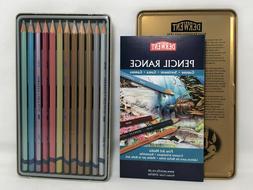 12 PK Derwent Metallic Colored Pencils w/ Tin Assorted Color
