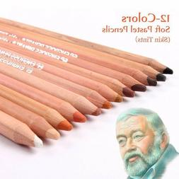 12 Sets Portrait Drawing Skin Tints Soft Pastel Art Colored
