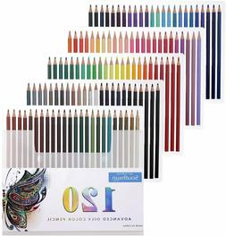 120 Oil Colored Pencils Artist Paint Art Drawing Sketching,