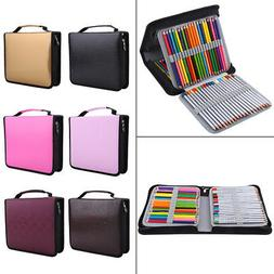 120 Slots Handy Deluxe PU Leather Colored Pencil Holder Penc