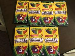 Lot Of 7 Packs BRAND NEW! Crayola 12ct Erasable Colored Penc