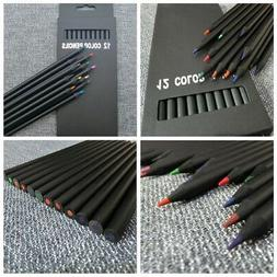 12Pcs Charcoal Pencil Colorful Sketch Drawing For Artist Ske