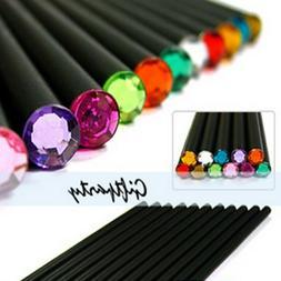 12Pcs Diamond Color Black Lead Pencils Stationery Drawing Of