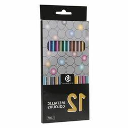 12Pcs Metallic Non-Toxic Colored Drawing Pencils 12 Color Dr