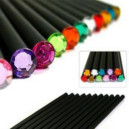 12Pcs Pencil HB Diamond Color Pencil Stationery Cute Pencils