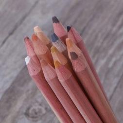 12Pcs Pro Soft Pastel Pencils Wood Skin Tint Pastel Colored