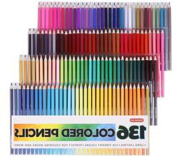 Shuttle Art 136 Colored Pencils Soft Core Color Pencil Set F