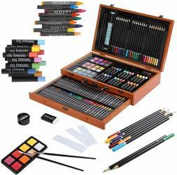 142pcs Art Set Artist Draw Kit Color Pencil Crayon Oil Paste