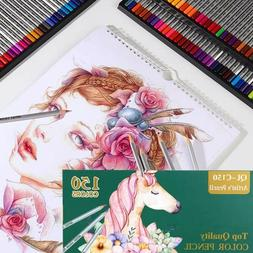 150 Choice Premier Colored Pencils Set Professional Art Draw