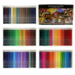 160 Colors Wood Colored Pencils Set Artist Painting Oil Base