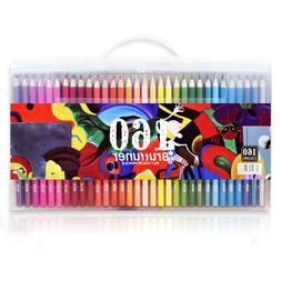160 Colors Wood Colored Pencils Set Artist Painting Oil Base