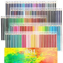 Ccfoud 160 Oily Art Colored Pencils Set for Children & Adult