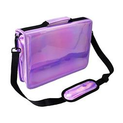 YOUSHARES 160 Slots Holographic Pencil Case - Laser PU Plati