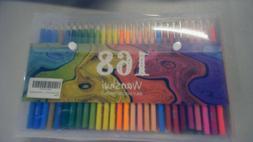 WANSHUI 168 Colored Pencils - Including 12 Metallic 8 Fluore