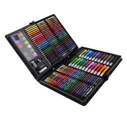 168 Pcs Portable Art Studio, Colored Pencils, Crayons, Marke