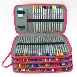 184 Slots Large Capacity Colored Pencil Pen Case Organizer F