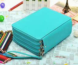 YOUNGCOL 184 Slots Colored Pencil Organizer - Deluxe PU Leat