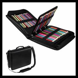 210 Slots Colored Pencil Case PU Leather Holder LARGE Capaci