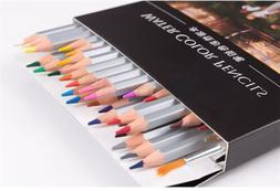 24/36/48 Pro Water Soluble Water Color Wooden Pencil + Brush