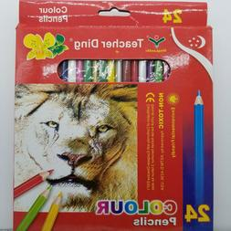 24 Color Pencils For Drawing & Blending,Good Cheap Colored P