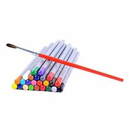 24 color watercolor pencils water soluble colored