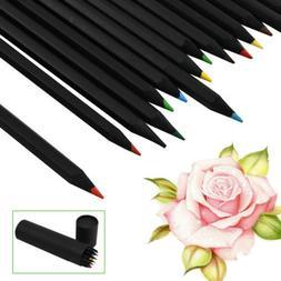 24 Colors Oil Art Pencils Drawing Sketching Set Artist Adult