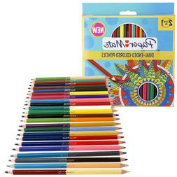 24 Paper Mate Dual Ended Wood Colored Pencils Pre-Sharpened