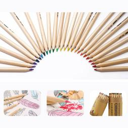 24Colors Oil Art Pencils Drawing Sketching Set Artist Adult