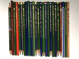 25 VINTAGE A.W.FABER PENCILS: GRAPHITE / COPYING / COLORED -