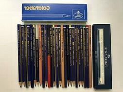 "26 VINTAGE A.W.FABER PENCILS:""GOLDFABER""-GRAPHITE/COPYING/CO"