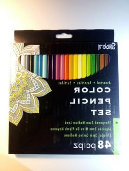 Darice 30016999 Colored Pencil Set 48Piece, Sharpened Colore