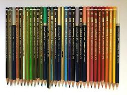32 VINTAGE COLORED PENCILS: A.W.FABER-CASTELL GOLDFABER 4100