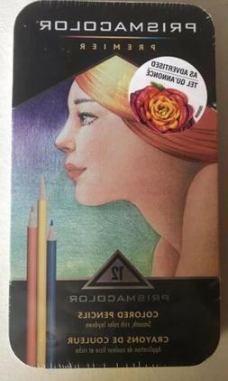 Prismacolor 3596T Premier Colored Pencils, Soft Core, 12 Cou