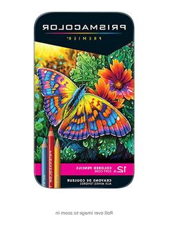 Prismacolor 3596T Premier Colored Pencils, Soft Core, 12 Cou