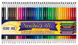 June Gold 36 Assorted Colored 2.0 mm Mechanical Pencils, Bol
