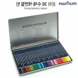 MUNHWA 36 Color High Quality Water Aqua Colour Pencils Crayo