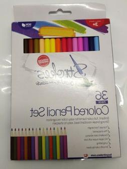 Strokes36 Piece Premium Colored Pencil Set Creativity InYour