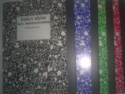 4 Pack Multi colored wide Ruled Composition Notebook - 7 #2