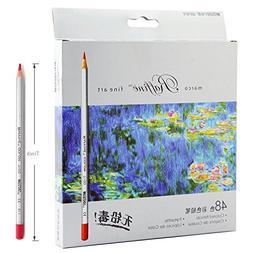 Lanxivi 48 Marco Colored Pencils with Pen Pouch Set / Color
