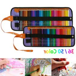 50 Colors Professional Art Drawing Pencils Kit Watercolor Pa