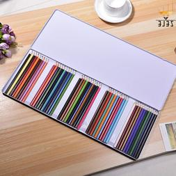 50 Colors Wooden Colorful Pencils Professional Coloring Draw
